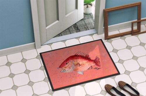 Carolines Treasures  8351JMAT Strawberry Snapper Indoor or Outdoor Mat 24x36 Perspective: back