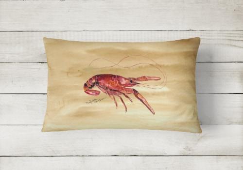 Carolines Treasures  8230PW1216 Crawfish   Canvas Fabric Decorative Pillow Perspective: back