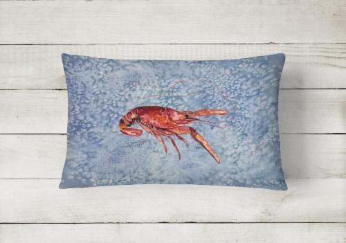 Carolines Treasures  8231PW1216 Crawfish   Canvas Fabric Decorative Pillow Perspective: back
