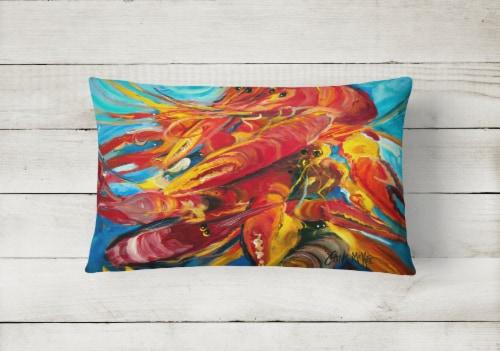 Carolines Treasures  JMK1117PW1216 Crawfish Canvas Fabric Decorative Pillow Perspective: back
