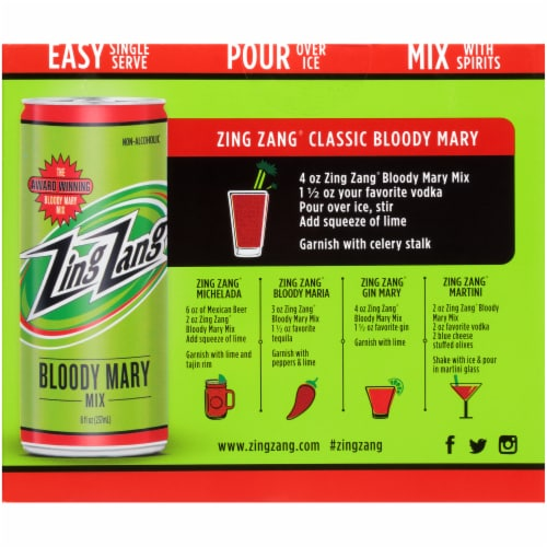 Zing Zang Non-Alcoholic Bloody Mary Mix Perspective: back