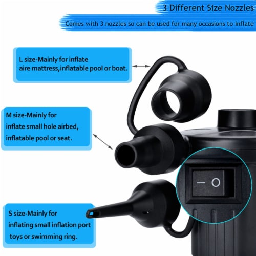 AGPtek 4  Electric Air Pump for Inflatables Deflator Air Mattresses Swimming Ring Beds Pool Perspective: back