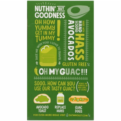 Wholly Guacamole® Organic Mild Guacamole Minis Perspective: back