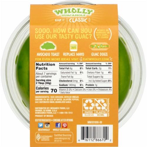 Wholly Guacamole® Classic Mild Guacamole Perspective: back
