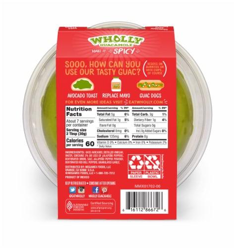 Wholly Guacamole Spicy Guacamole Perspective: back