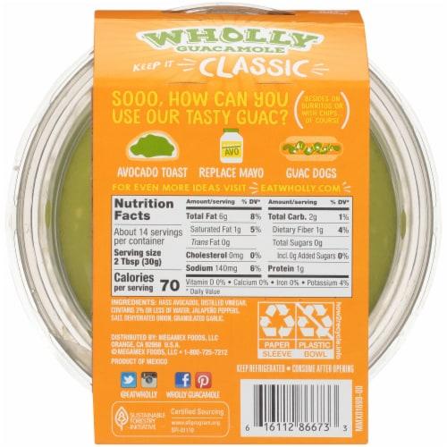 Wholly Guacamole® Classic Mild Guacamole Family Size Perspective: back