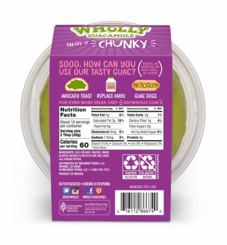 Wholly Guacamole® Chunky Medium Guacamole Family Size Perspective: back