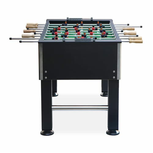 KICK Triumph 55 Inch Recreational Multi Person Soccer Game Foosball Table, Black Perspective: back