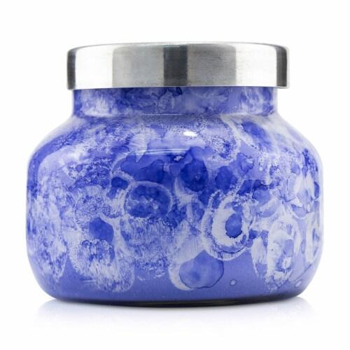 Capri Blue Watercolor Jar Candle  Blue Jean 8oz Perspective: back