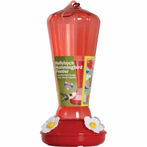 Hiatt Manufacturing Hollyhock Hummingbird Feeder Perspective: back
