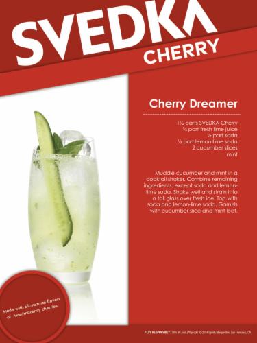 Svedka Cherry Vodka Perspective: back