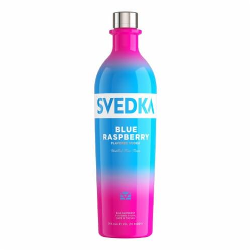 Svedka Blue Raspberry Flavored Vodka Perspective: back