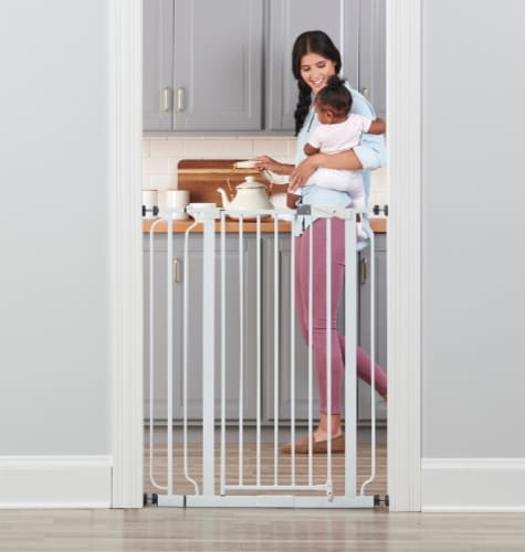 Regalo Easy-Step Extra Tall Baby Safety Gate - White Perspective: back