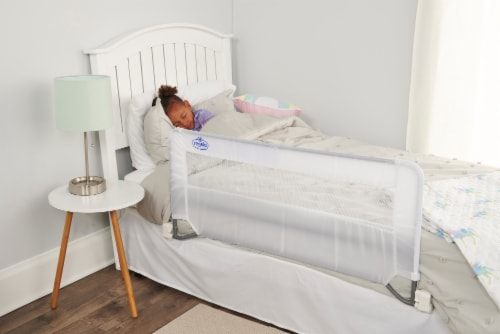 Regalo Swing Down Bed Rail - White Perspective: back