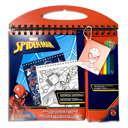 ECO-Coloring Pencils and Activity Pad - Marvel Spider-Man Perspective: back