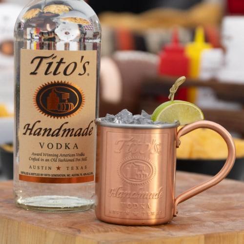 Tito's Handmade Vodka Perspective: back