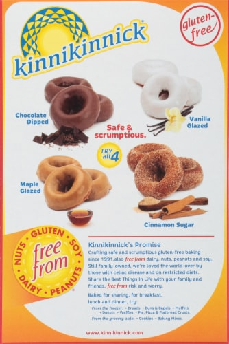 Kinnikinnick Chocolate Dipped Donuts 6 Count Perspective: back