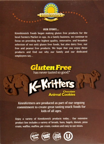 Kinnikinnick KinniKritters Chocolate Animal Crackers Perspective: back
