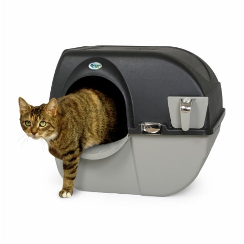 Omega Paw EL-RA20-1 Roll N Clean Self Separating Self Cleaning Litter Box, Large Perspective: back