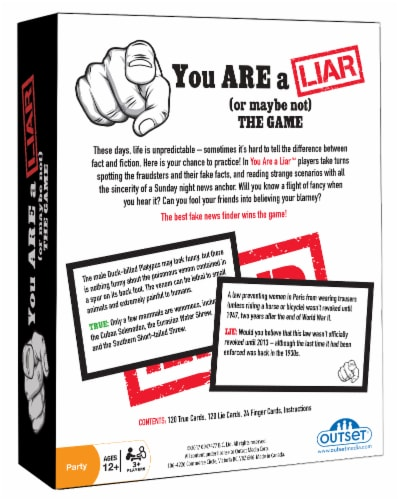 You Are A Liar (Or Maybe Not) The Game Party Game Perspective: back