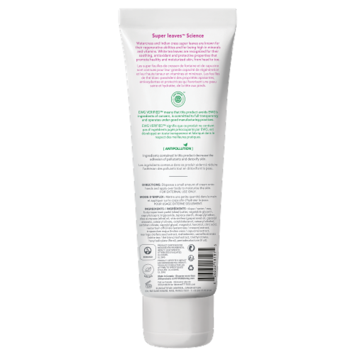 Attitude Super Leaves White Tea Soothing Body Cream Perspective: back