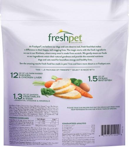 Freshpet Select Moisture Rich Tender Chicken Recipe Bites with Garden Vegetables Cat Food Perspective: back