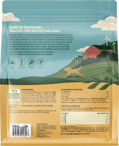 Freshpet Nature's Grain Free Chicken Roasted Meals Wet Dog Food Perspective: back
