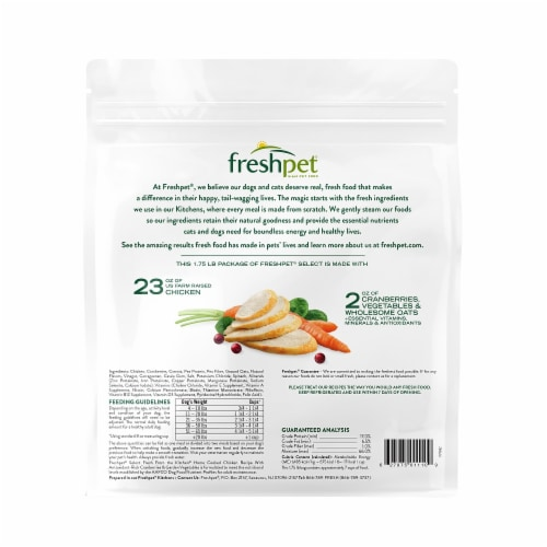 Freshpet Select Fresh from the Kitchen Home Cooked Chicken Recipe Dog Food Perspective: back