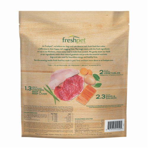 Freshpet Select Multi Protein Complete Meal Dog Food Perspective: back