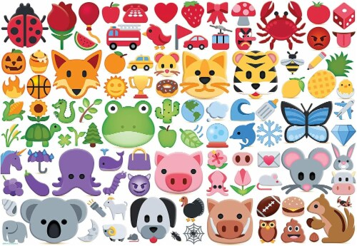 Emoji Puzzle Emoji Colors 100 Piece Jigsaw Puzzle Perspective: back