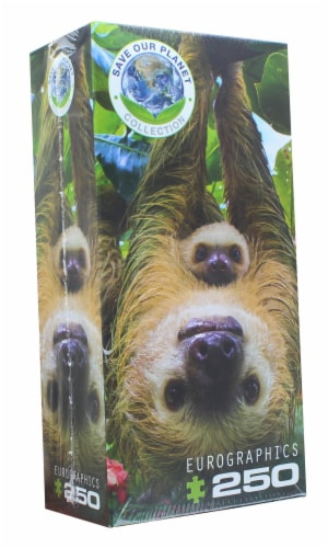 Sloths 250 Piece Jigsaw Puzzle Perspective: back