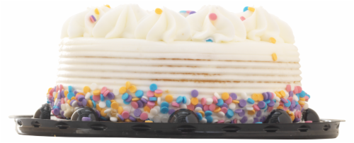 Charlotte's Vanilla Celebration Cake Perspective: back