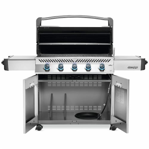 Napoleon P665NSS Prestige 665 Stainless Steel Natural Gas Grill w/ Side Shelves Perspective: back