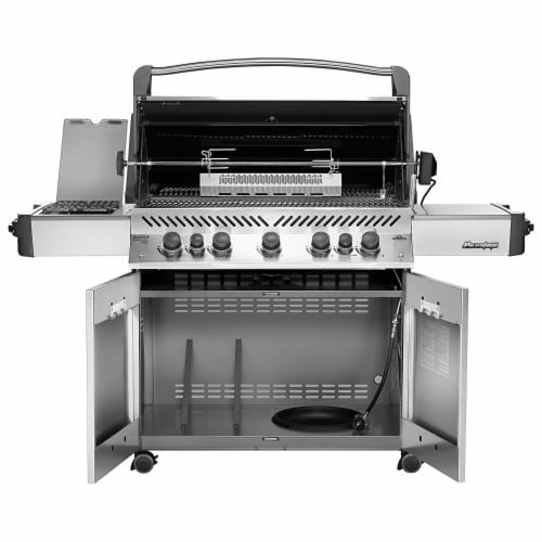 Napoleon P665RSIBPSS Prestige 665 RSIB Propane Gas Grill with Infrared Burners Perspective: back