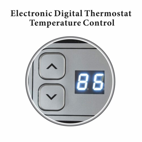 Portable Oscillation Ceramic Heater with Thermostat and LED Perspective: back