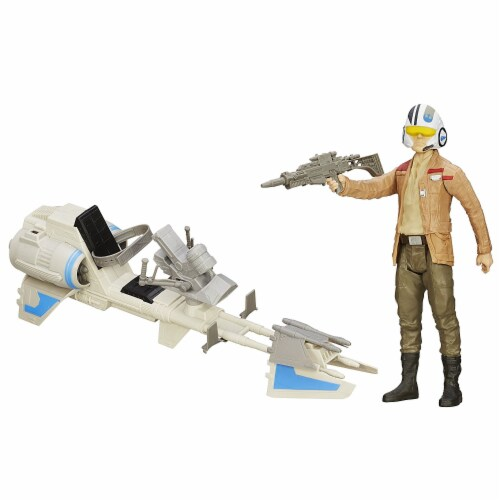 Star Wars The Force Awakens 12-inch Speeder Bike Perspective: back