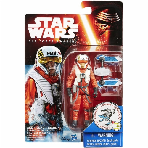 Star Wars The Force Awakens 3.75-Inch Figure Snow Mission Wave 2 X-Wing Pilot Asty Perspective: back