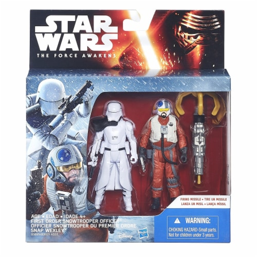 Star Wars: The Force Awakens 3.75 Inch 2 Pack Snap Wexley and First Order Snowtrooper Officer Perspective: back