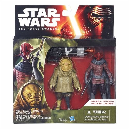 Star Wars: The Force Awakens 3.75 Inch 2 Pack Sidon Ithano and First Mate Quiggold Perspective: back