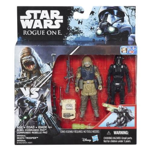 Star Wars Rogue One Imperial Death Trooper & Rebel Commando Pao Deluxe Perspective: back