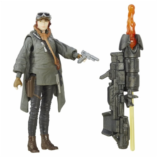 Hasbro Disney Star Wars Rogue One Sergeant Jyn Erso Figure Perspective: back