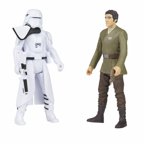 Star Wars The Force Awakens Poe Dameron & First Order Snowtrooper Deluxe Pack Perspective: back