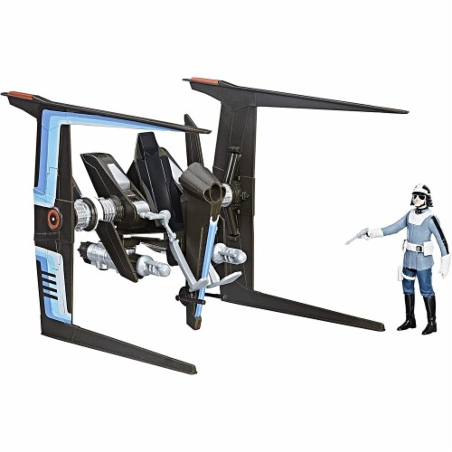 Hasbro Star Wars Force Canto Bight Police Speeder & Action Figure Perspective: back