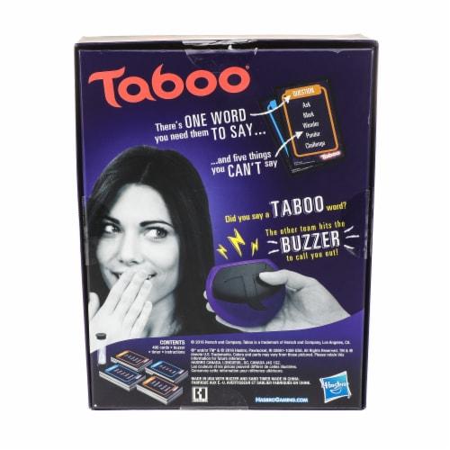 Hasbro Taboo Game Perspective: back