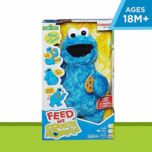 Sesame Street Feed Me Cookie Monster Plush Toy Perspective: back