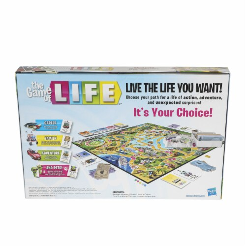 Hasbro The Game of Life Board Game Perspective: back