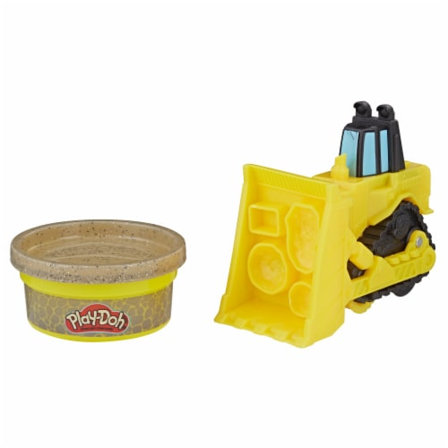 Play-Doh Wheels Mini Bulldozer with Stone Buildin' Compound Perspective: back