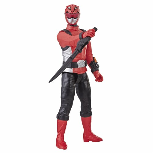Hasbro Power Rangers Beast Morphers Red Ranger Action Figure Perspective: back