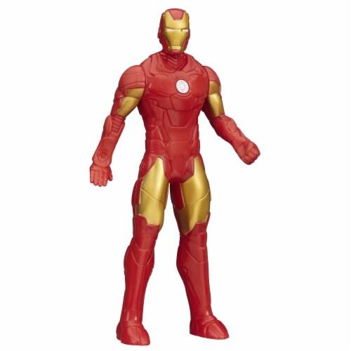 Hasbro Marvel Basic Iron Man Figure Perspective: back