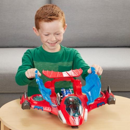 Hasbro Playskool Marvel Super Hero Adventures Spider-Man Jetquarters Toy Perspective: back